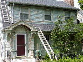 Residential Whitefish Bay Exterior Before Restoration
