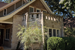 Brick Whitefish Bay house after painting and trim