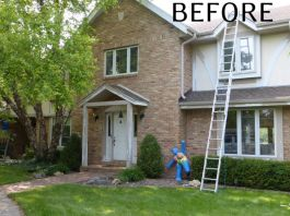 River Hills home exterior painting and renovations