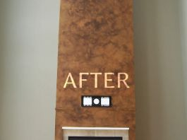 Whitefish Bay Interior chimney and fireplace after renovations